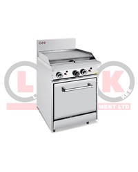 600mm GAS GRIDDLE + STATIC OVEN