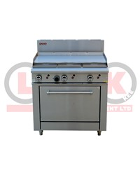 900mm GAS GRIDDLE + STD OVEN