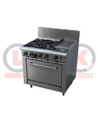 4 OPEN BURNER + 300MM RIGHT GRIDDLE + STD OVEN