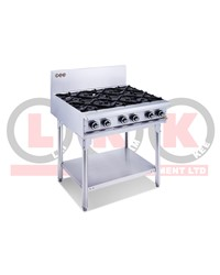 6 GAS OPEN BURNER COOKTOP WITH LEGS
